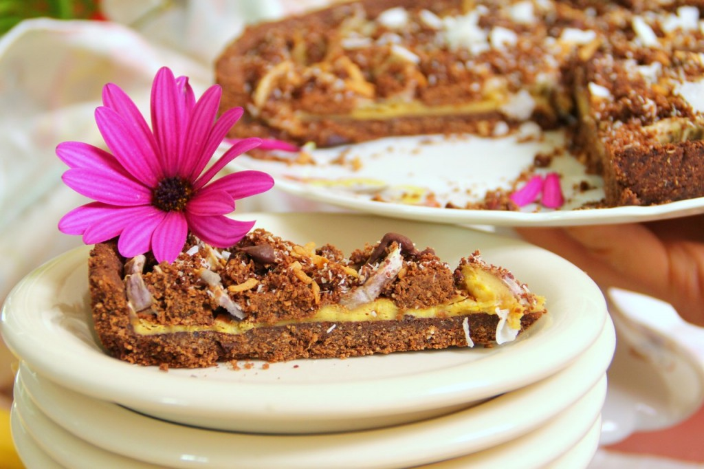 Guilt & Gluten Free Chocolate Banana Pie