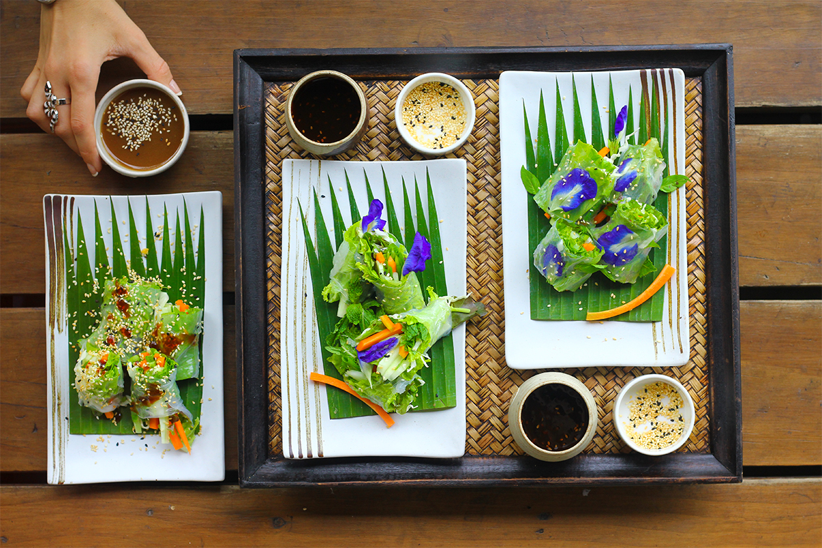 Gluten Free Spring Rolls with Tamarind Dip from the Chef at Anantara Layan (GF, DF, SF)